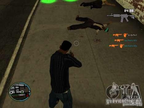 KILL LOG для GTA San Andreas четвёртый скриншот