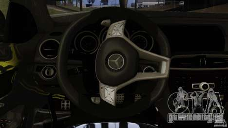 Mercedes Benz C63 AMG Black Series 2012 для GTA San Andreas вид снизу