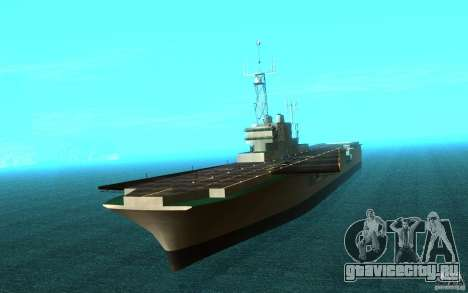 New Aircraft carrier для GTA San Andreas вид слева