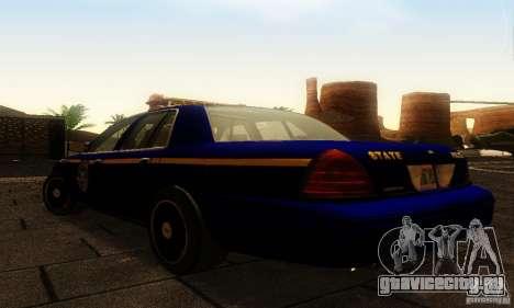 Ford Crown Victoria New York Police для GTA San Andreas вид слева