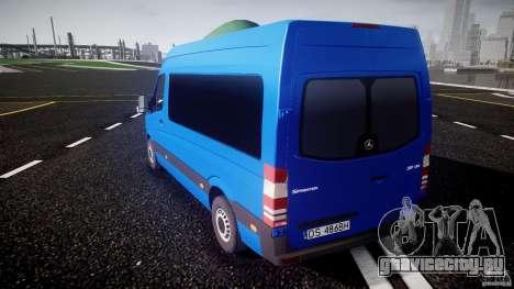 Mercedes-Benz ASM Sprinter Ambulance для GTA 4 вид сзади слева