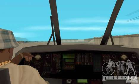 HH-60 Jayhawk USCG для GTA San Andreas вид сзади