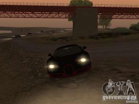 Bugatti Veyron Super Sport для GTA San Andreas вид сзади