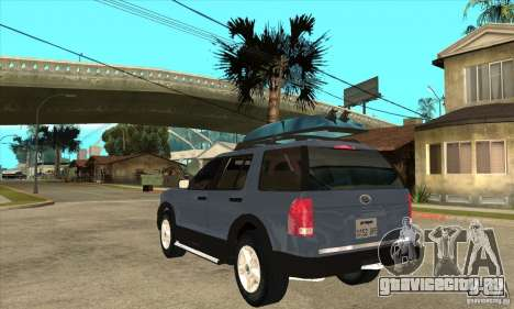 Ford Explorer 2004 для GTA San Andreas вид сзади слева