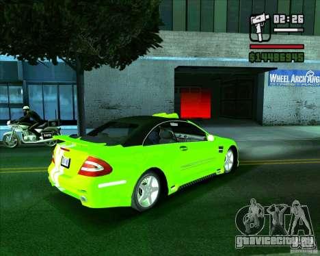 Mercedes-Benz CLK500 для GTA San Andreas вид слева