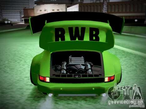 Porsche 911 Turbo RWB Pandora One для GTA San Andreas вид сверху