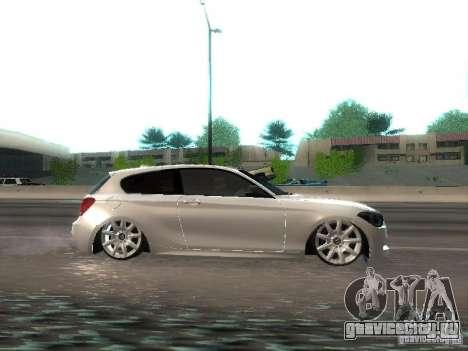 BMW M135i для GTA San Andreas вид сзади