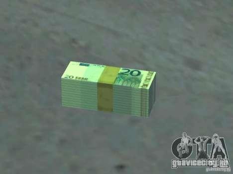 Euro money mod v 1.5 20 euros I для GTA San Andreas