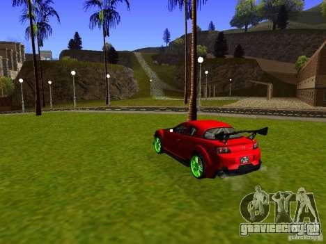 Mazda RX-8 R3 Tuned 2011 для GTA San Andreas вид сзади слева