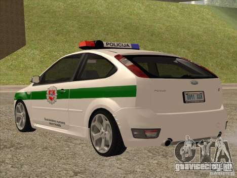 Ford Focus ST Policija для GTA San Andreas вид сзади слева
