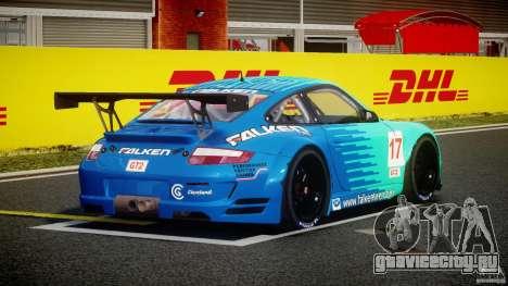 Porsche GT3 RSR 2008 для GTA 4 вид сбоку