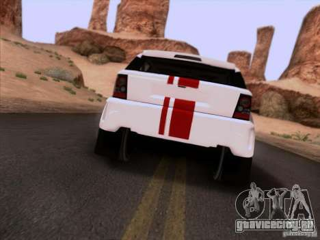 Bowler EXR S 2012 для GTA San Andreas вид сзади
