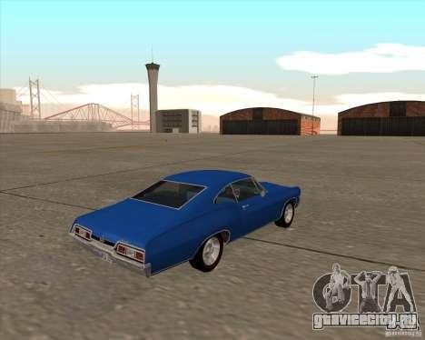 Chevrolet Impala 427 SS 1967 для GTA San Andreas вид сзади