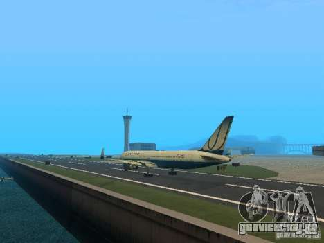 Boeing 767-300 United Airlines New Livery для GTA San Andreas вид сзади слева