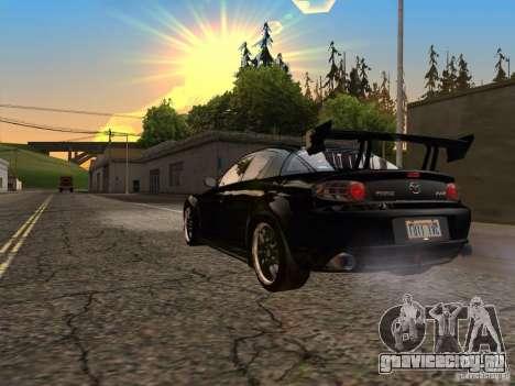 Mazda RX-8 Varis Custom для GTA San Andreas вид сзади слева