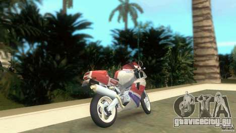 Yamaha FZR 750 white lighted для GTA Vice City вид сзади слева
