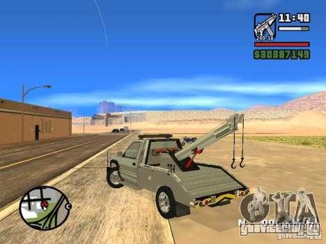 GMC Sierra Tow Truck для GTA San Andreas вид сзади слева