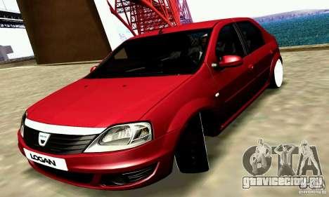 Dacia Logan 2008 для GTA San Andreas вид сзади