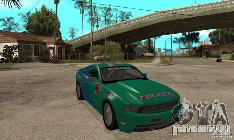 Ford Mustang GT Falken для GTA San Andreas вид сзади