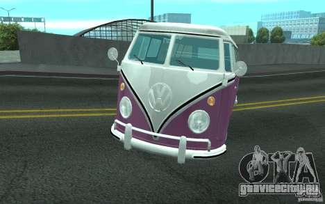 Volkswagen Transporter T1 SAMBAQ CAMPERVAN для GTA San Andreas вид снизу