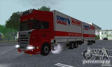 Прицеп для Scania R620 для GTA San Andreas вид изнутри