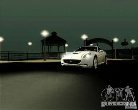 Ferrari California 2009 для GTA San Andreas вид справа