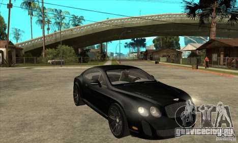 Bentley Continental Supersports для GTA San Andreas