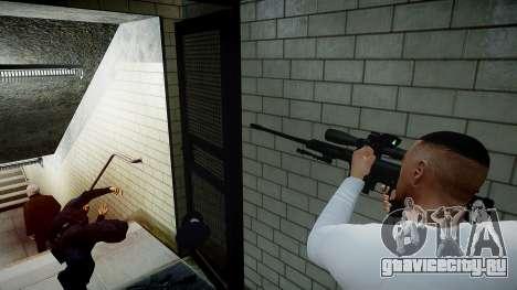 Barrett 98B (снайперка) для GTA 4 пятый скриншот