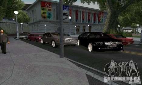 BMW 760LI для GTA San Andreas вид сзади