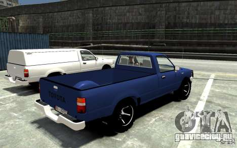 Toyota Hilux 1989-1993 Single cab v1 для GTA 4 вид справа