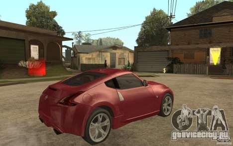Nissan 370Z 2010 для GTA San Andreas вид справа