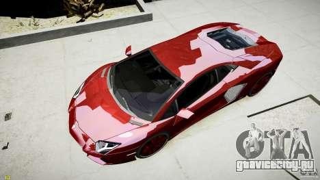 Lamborghini Aventador LP700-4 для GTA 4 вид сзади