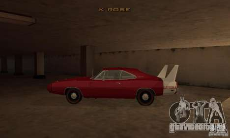 Dodge Charger Daytona 1969 для GTA San Andreas вид слева