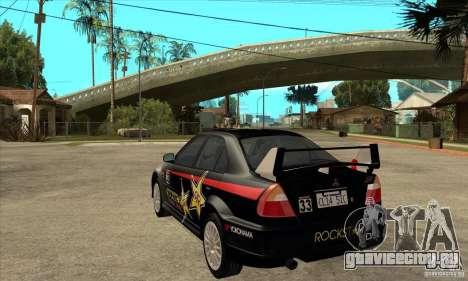 Mitsubishi Lancer Evo VI Tune для GTA San Andreas вид сзади слева