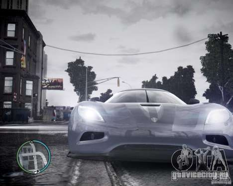 Koenigsegg Agera для GTA 4 вид сзади
