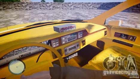 Chevrolet Caprice Taxi для GTA 4 вид сзади