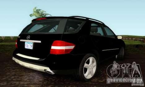 Mercedes-Benz ML500 для GTA San Andreas вид сзади слева