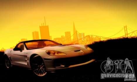 Chevrolet Corvette ZR-1 для GTA San Andreas салон