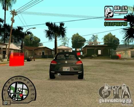 Volswagen Scirocco для GTA San Andreas вид сзади