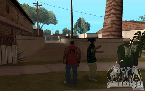 Grove Street Skin Pack для GTA San Andreas четвёртый скриншот
