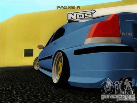 Volvo S60 для GTA San Andreas вид изнутри