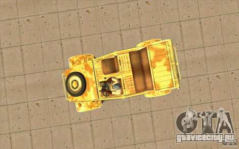 Kuebelwagen v2.0 desert для GTA San Andreas вид справа