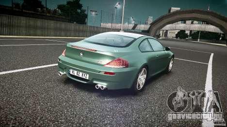 BMW M6 v1.0 для GTA 4 вид сверху