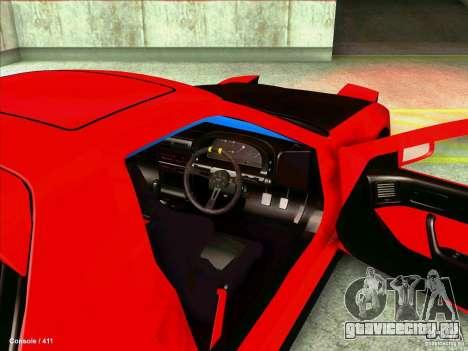 Mazda RX7 для GTA San Andreas вид изнутри
