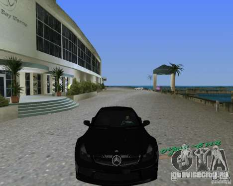 Mercedess Benz SL 65 AMG Black Series для GTA Vice City вид сзади слева
