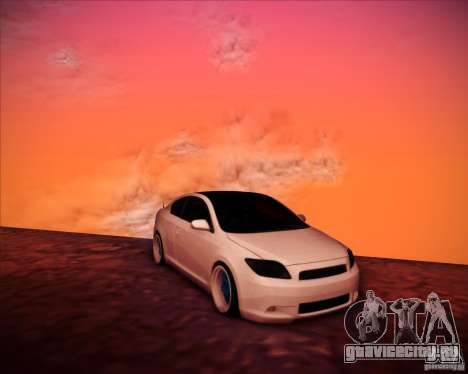 Scion tC Blue Meisters для GTA San Andreas вид сбоку