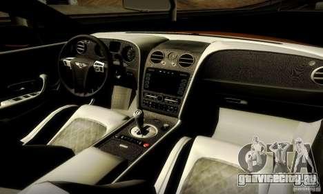 Bentley Continental Supersports для GTA San Andreas вид справа