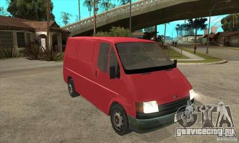 Ford Transit для GTA San Andreas вид изнутри