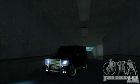 Mercedes Benz G500 ART FBI для GTA San Andreas вид изнутри