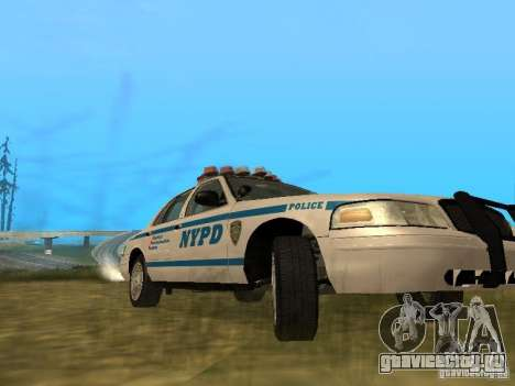 Ford Crown Victoria NYPD Police для GTA San Andreas вид изнутри